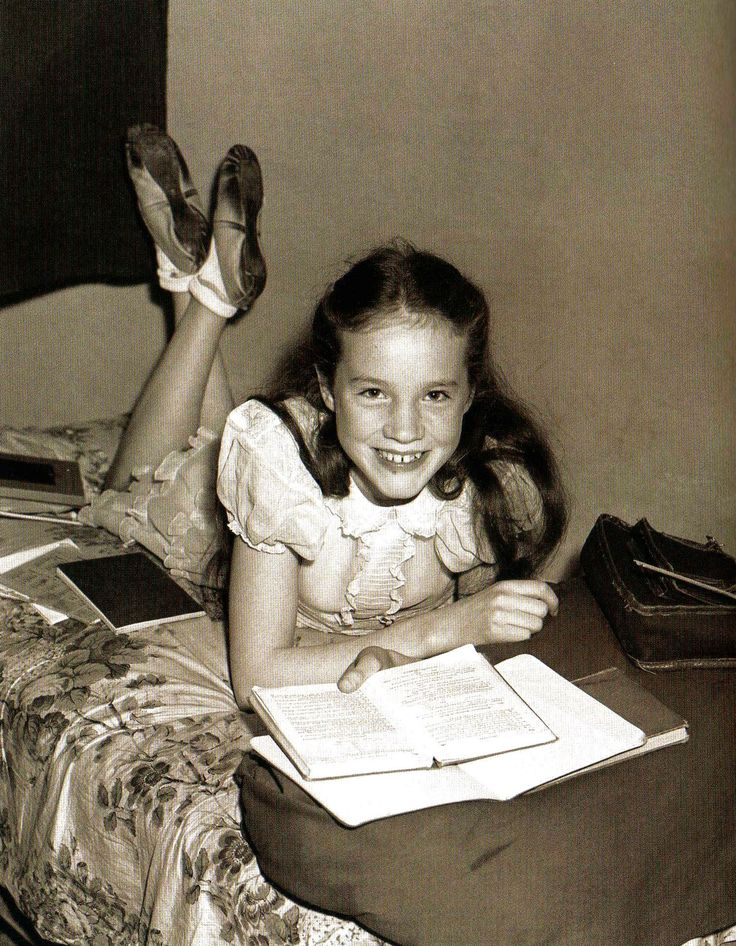 Julie Andrews, 13 year old coloratura soprano of Walton-On-Thames, is the youngest star chosen for the Royal Command Variety Performance at the London Palladium - 14 October 1948