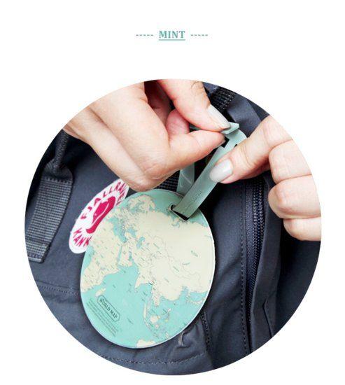 Tag do mundo Mapa de viagem