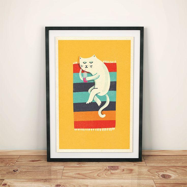 'Kot plażowy' by Ja Cię Broszę