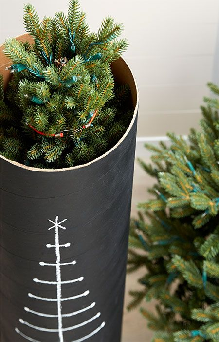 Keep an artificial Christmas tree safe and dust-free in this DIY organizer you can store on end. --Lowe's Creative Ideas