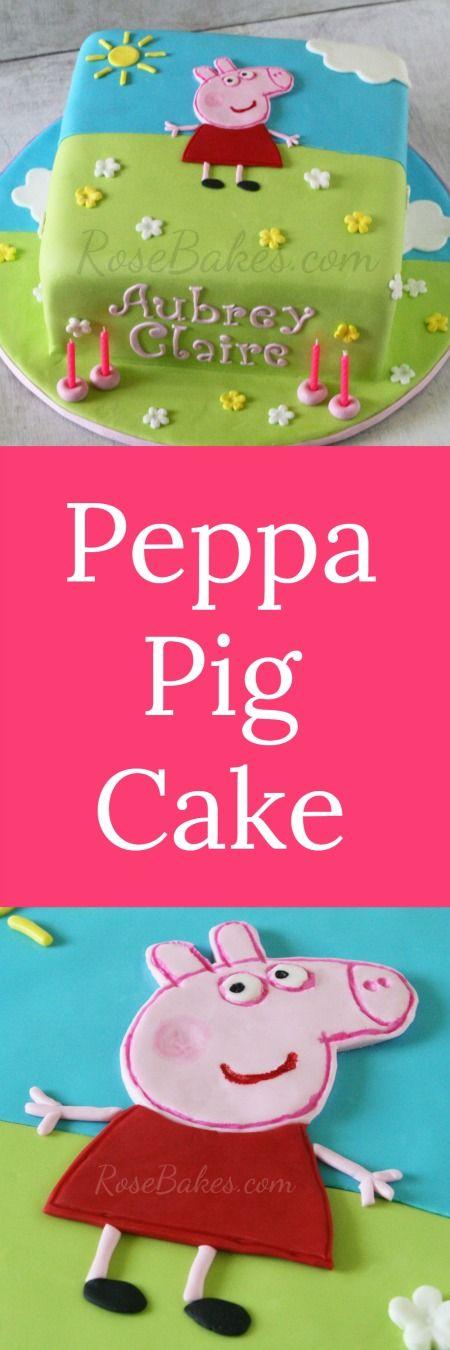 Peppa Pig Cake | RoseBakes.com