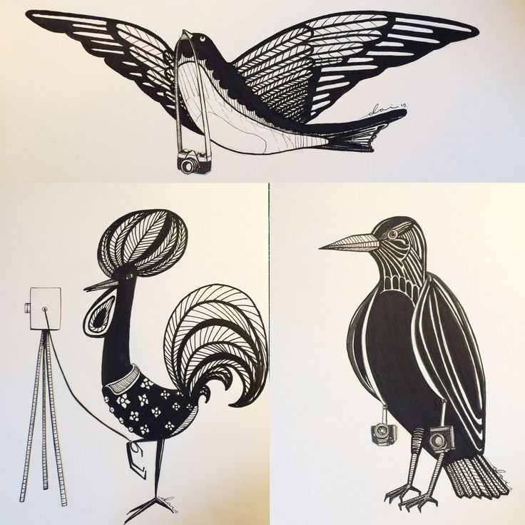 """Cock, crow and swallow for """"Sardine Leather Goods"""""""