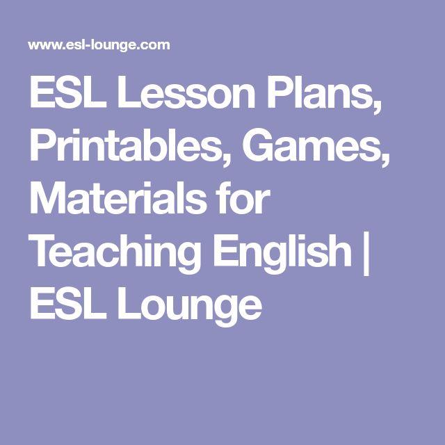 Best  Esl Lessons Ideas On   Esl Lesson Plans