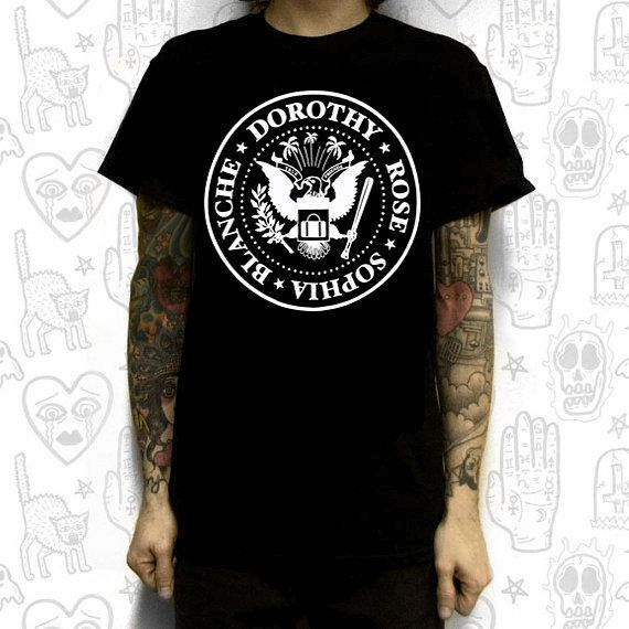 GOLDEN GRRRLS ramones T-SHIRT large by SISTERECTOPLASMADSTR
