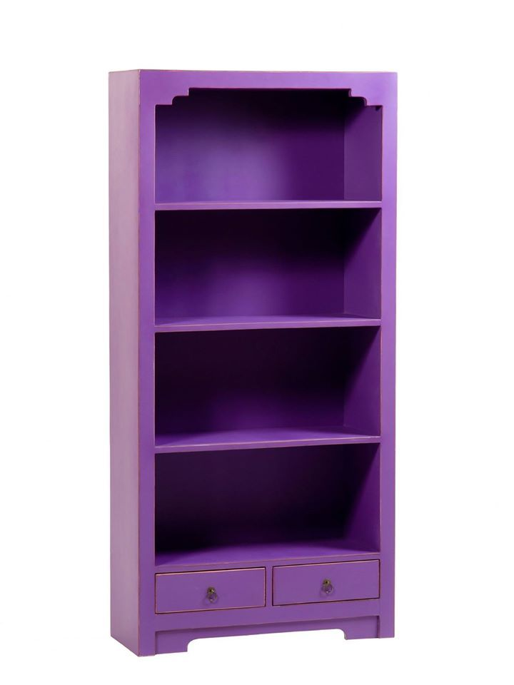 Purple shelves