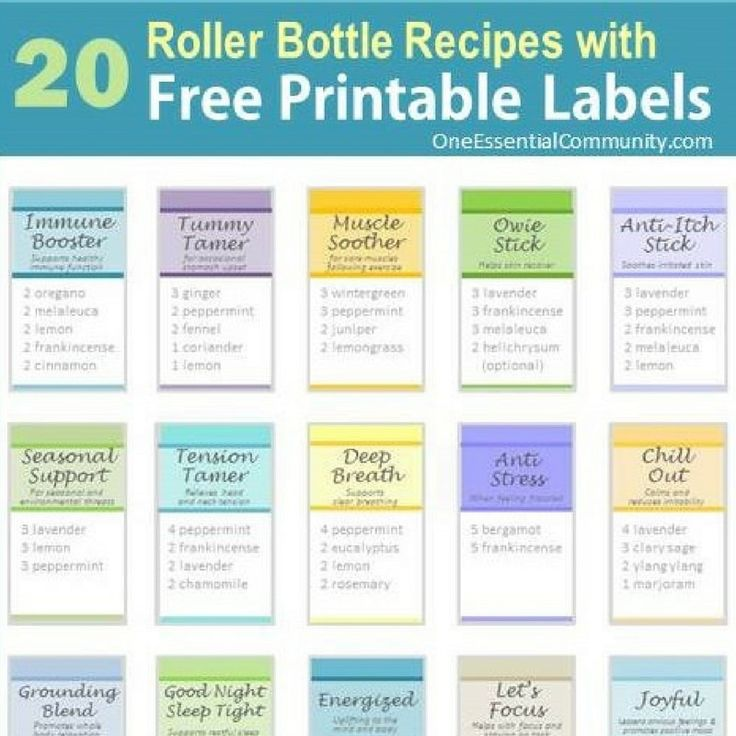 20 Rollerball Blends & Recipes With Free Printable Labels