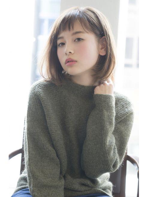 ジョエミバイアンアミ(joemi by Un ami) 【joemi】シンプルなお洒落ミディボブ。乾かすだけできまる★