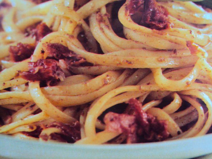 le ricette di chycca: Trenette insaporite ai pomodori secchi
