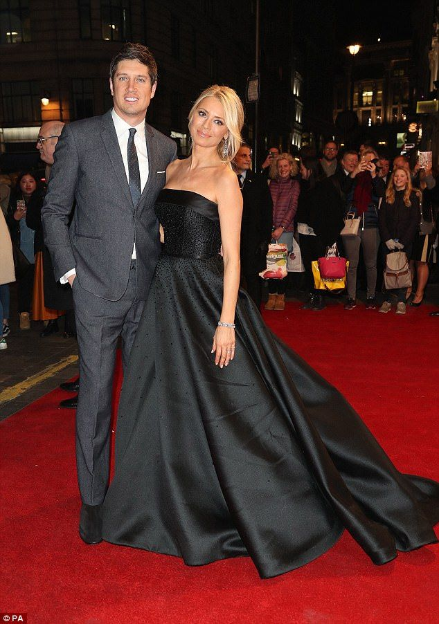 We were thrilled to create Tess Daly's dress for the special celebration of the life of Sir Bruce Forsyth last night at the London Palladium. The strapless silk gown was designed especially for the event, and incorporated thousands of jet black Swarovski crystals, hand sewn over the past two weeks. Suzanne worked closely with Stylist James Yardley to design this very special one off gown to present the wonderful tribute show to her much loved strictly friend and colleague Bruce.