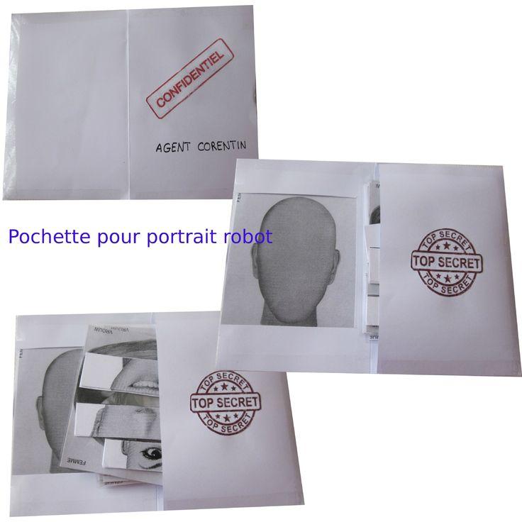 pochette portrait robot