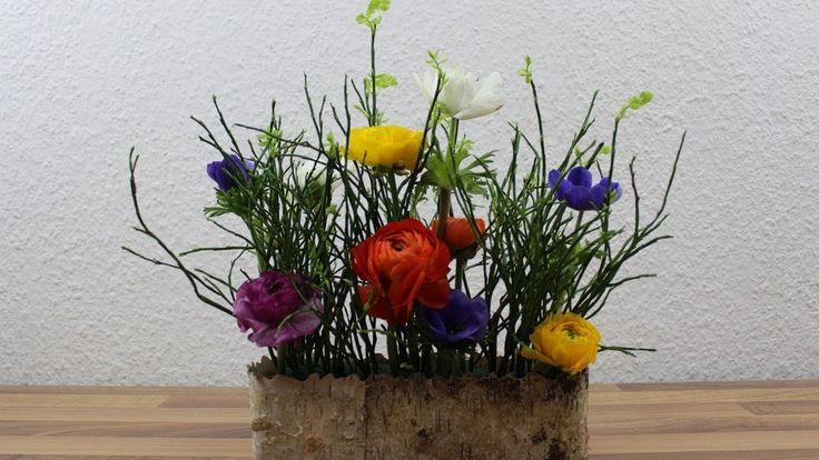 Einfache #Dekoidee mit #Frühlingsblumen selber machen ❁ Deko Ideen mit Flora-Shop