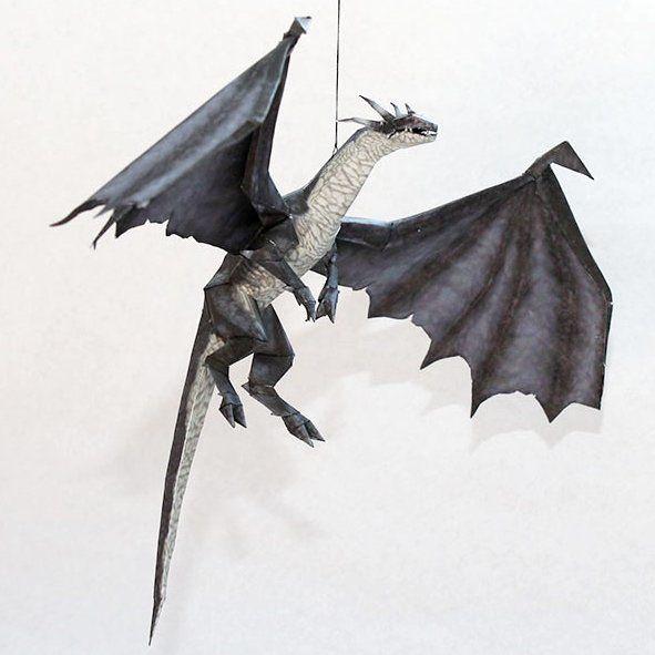 Drakan Papercraft: Grey Dragon | Tektonten Papercraft