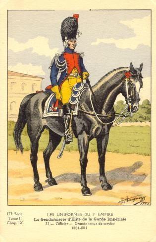 French; Imperial Guard, Gendarmes d'Elite, Officer, Grande Tenue de Service 1804-06