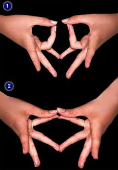 Maha sacral mudra: Join the tips of two little fingers while two ring fingers touch the tips of corresponding thumbs (i.e. left ring finger to touch the left thumb and right ring finger to touch the right one) for 3 minutes and join the tips of two ring fingers while the two little fingers touch the tips of thumbs for 3 minutes. Practice this mudra daily twice.