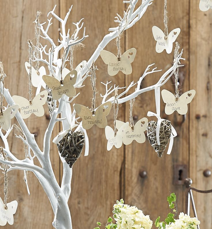 Beautiful idea for a wedding using the Hobbycraft white tree only £29.99
