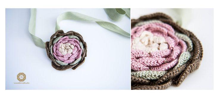 Crochet Pendant/Brooch
