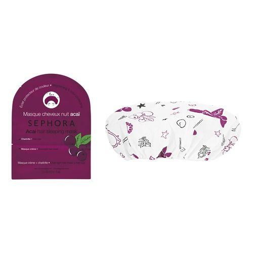 Ночная маска для волос Асаи - Сияние и Защита цвета Sephora Уход за волосами во время сна? Именно этим занимаются наши новые ночные маски для волос. Они наносятся на сухие волосы и действуют всю ночь для максимального эффекта. Для хрупких, окрашенных, вьющихся или ломких волос в коллекции предусмотрены 4 маски на основе 4 ингредиентов, которые сделают волосы мягкими, блестящими и по-настоящему роскошными. АСАИ: ДЛЯ ОКРАШЕННЫХ И ПОВРЕЖДЕННЫХ ВОЛОС: Возвращает яркость цвета и блеск.