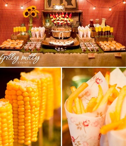 """The more I think about it, the more I want a pig roast wedding reception. This would be a nice """"side dish"""" bar. :D"""