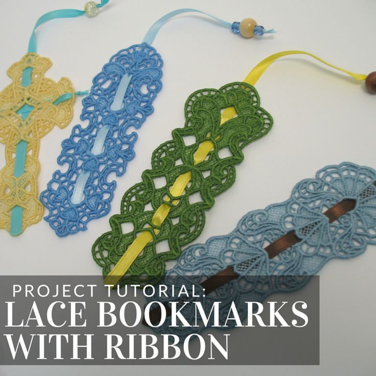 Make lace bookmarks with ribbons this tutorial from