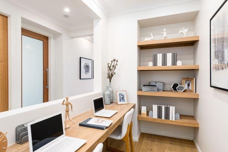 Timber shelves for Cooper's room