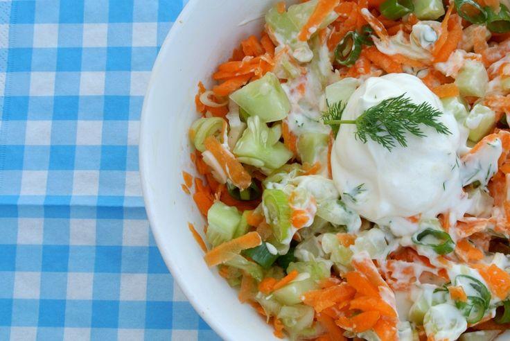 Frisse wortelsalade - Lekker en Simpel