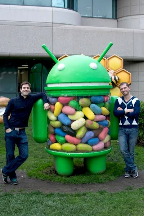 Paul and Danny at Google HQ