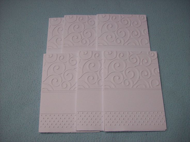 Grüße - Geprägte Karten 6 Stück - ein Designerstück von strickmarlen bei DaWanda
