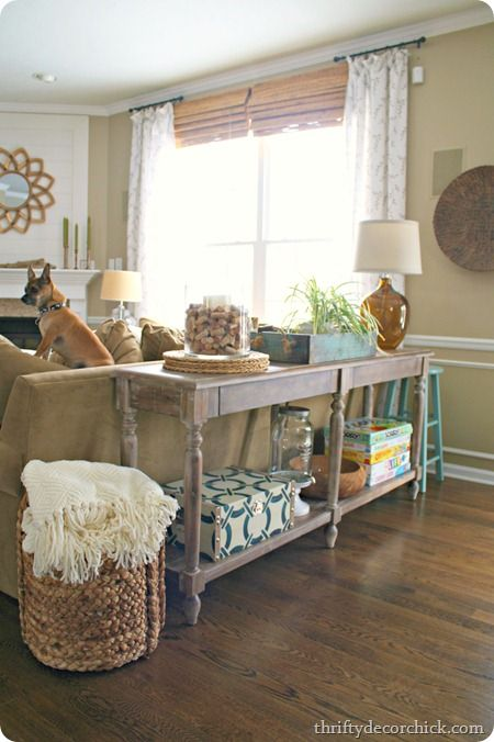 17 Best ideas about Table Behind Couch on Pinterest Behind sofa
