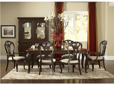 Provide Spacious Seating For Your Next Dinner Party With This Luxurious Grandover Seven Piece Dining Set The Dark Cherry Wood Table Comes A Leaf That