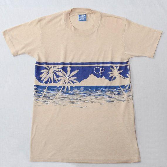 Vintage 80s OP Ocean Pacific Tee Shirt 1980s by CkshopperVintage
