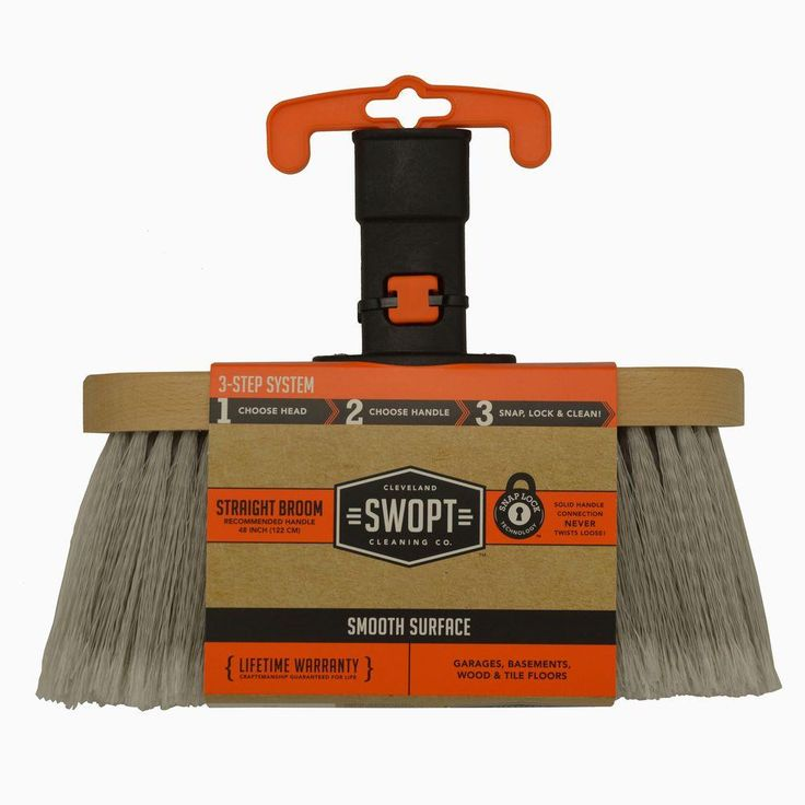 SWOPT smooth surface straight broom head.
