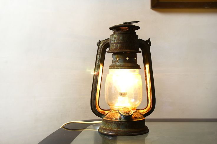 How to Convert an Oil Lantern Into an Electric Lantern -- via wikiHow.com