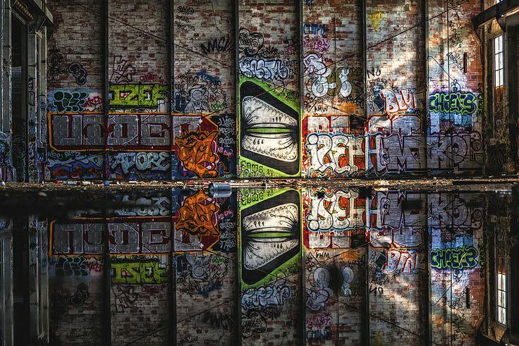 Artist: Gats. East Bay, San Francisco Bay Area, Ca. Photo Copyright: Rachel Escoto, Pixelina Photography. ALL RIGHTS RESERVED. Graffiti, Urbex, Urban Exploring, Abandoned.