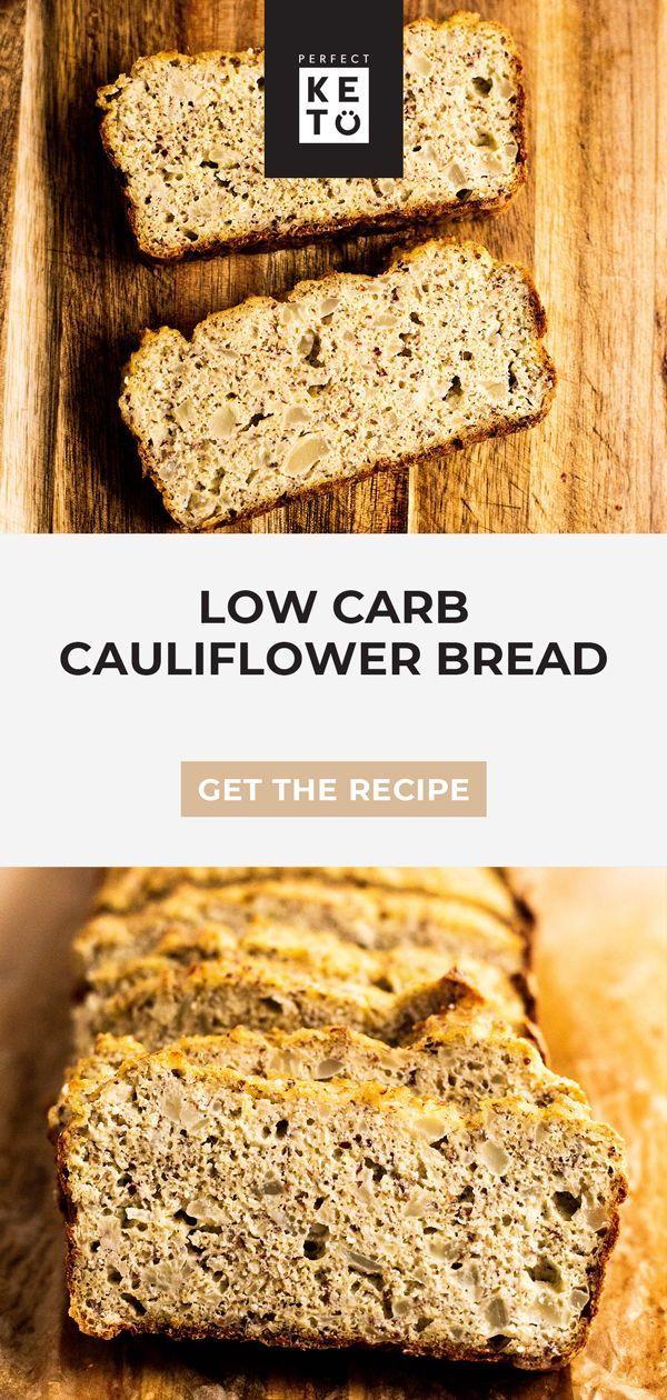 Low Carb Cauliflower Bread Recipe Almond Recipes Coconut