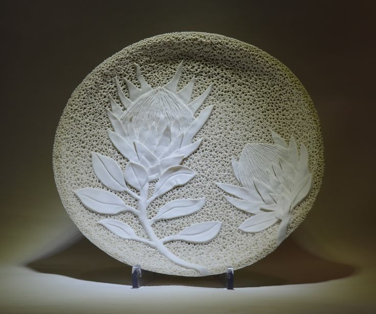 New Botanical Range - Large Porcelain Plate - Rika Herbst