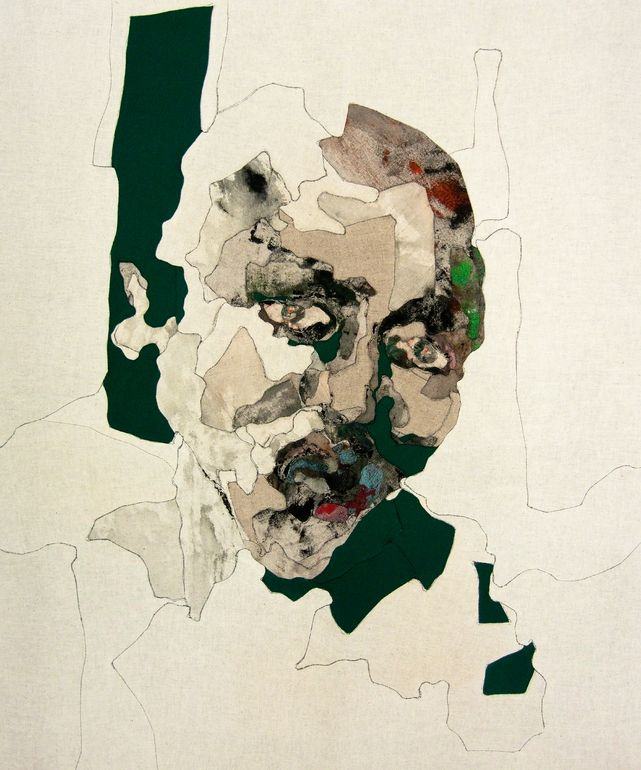 """Miseon Yoon; Fabric 2013 Painting """"Face 13-42"""""""
