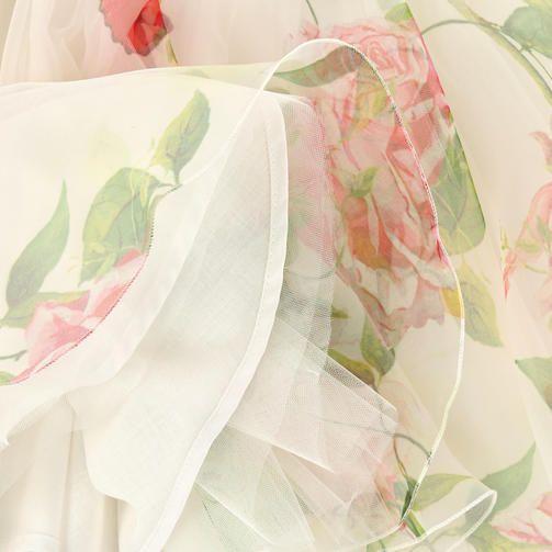 Printed organza skirt