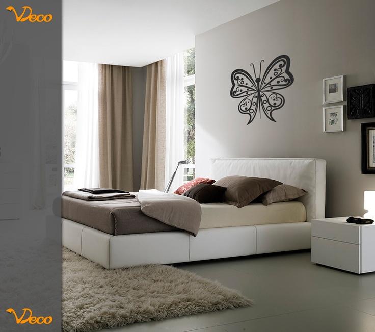 Mariposa para pared puede utilizarse como cabecero de for Vinilo cabecero cama