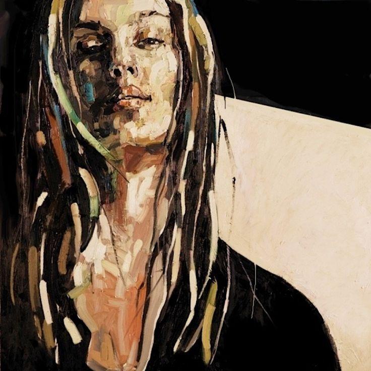 Obwohl die Malerin Anna Bocek ihre Bilder scheinbar mit hektischen Pinselstrichen entstehen lässt, sind die Ergebnisse alles andere als flüchtig. Die Polin fängt jedes noch so winzige Detail in den Gesichtern ihrer stets weiblichen Models ein und verleiht