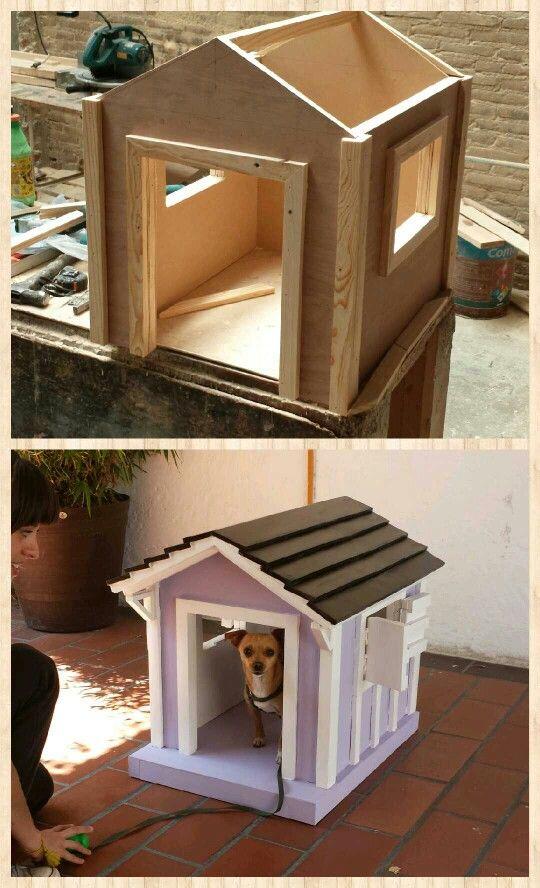 Casa De Perro Hecha Con Madera Reciclada