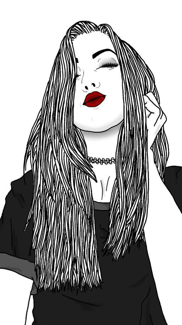 dibujos faciles de chicas tumblr - Buscar con Google