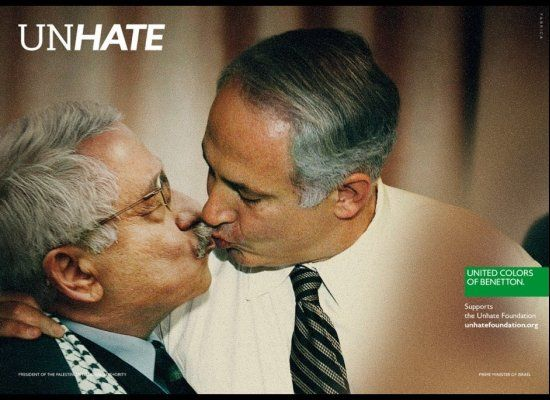 #Campaign of Benetton with Benyamin Nétanyahou and Mahmoud Abbas