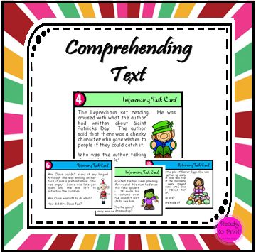 Working on retrieving or interpreting information is made easy with this set of celebration themed task cards!  Students read the text on each card and then answer the questions. The text is the same on...