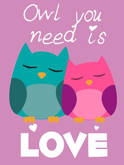 Owl You Need Is Love Pinned by www.myowlbarn.com
