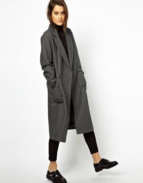 Image 1 ofASOS Oversized Wrap Front Coat