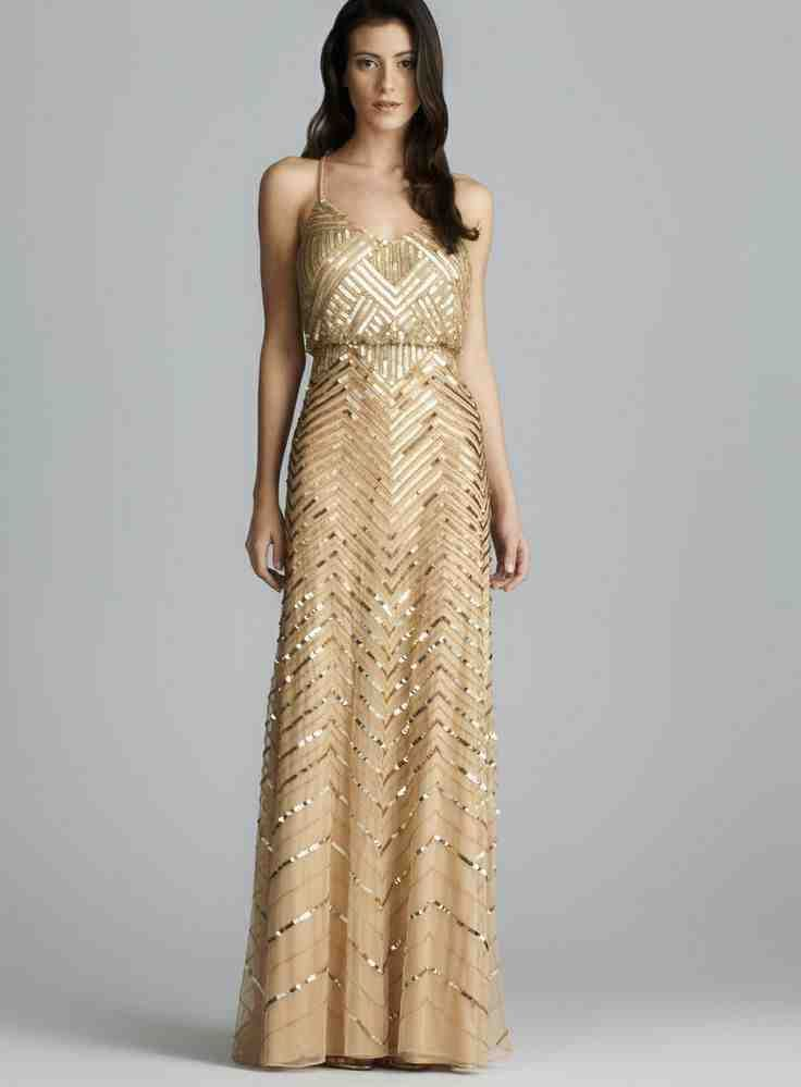 Long Gold Bridesmaid Dresses 1