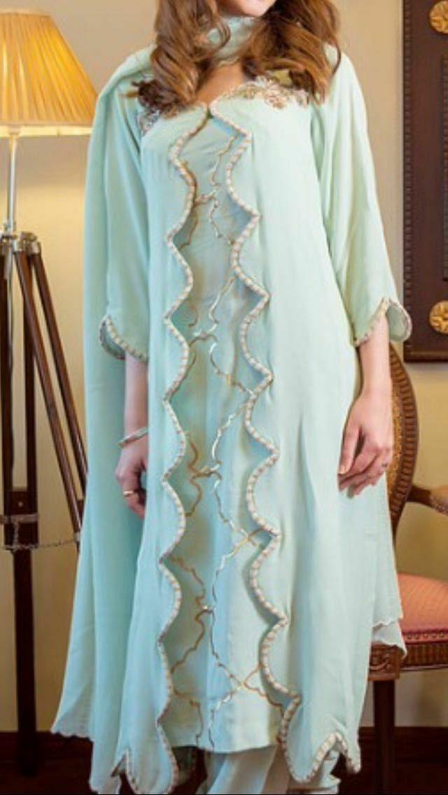 Beautiful punjabi suit firozi colour