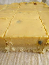 Morsels and Musings: passionfruit slice