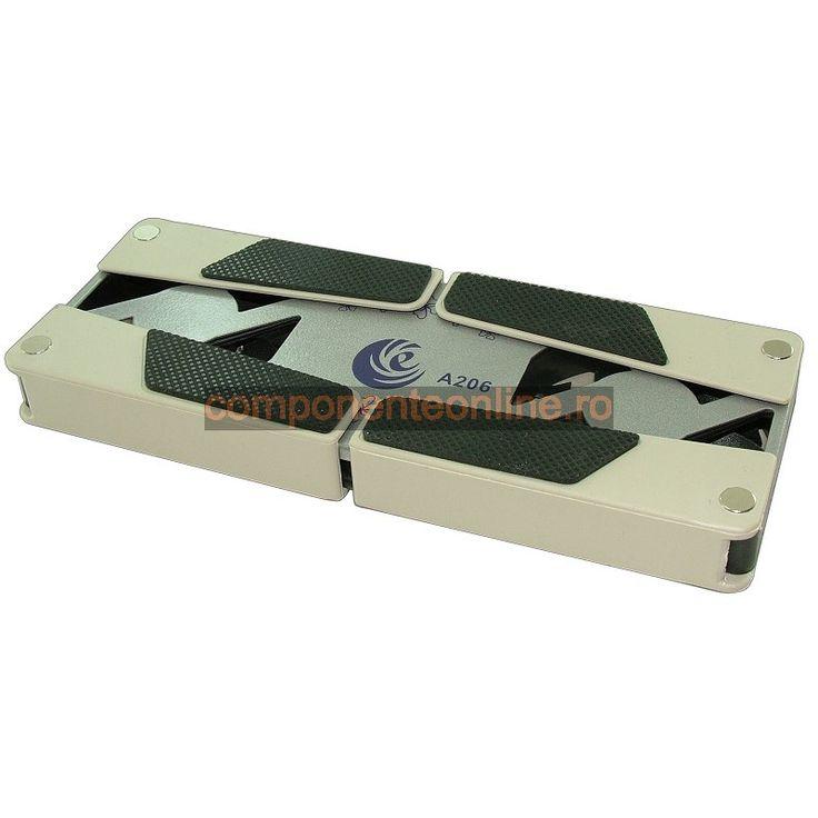 Suport pentru laptop, masuta laptop, cu 2 ventilatoare - 114811