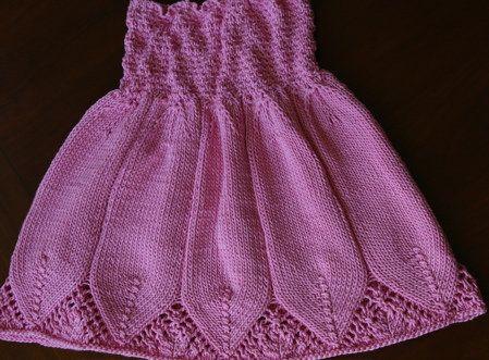 Free Knitting Pattern - Toddler & Children's Clothes: Flora Dress